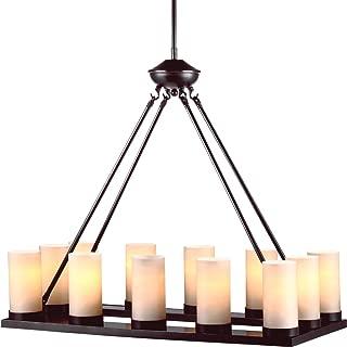 pillar candle light fixture