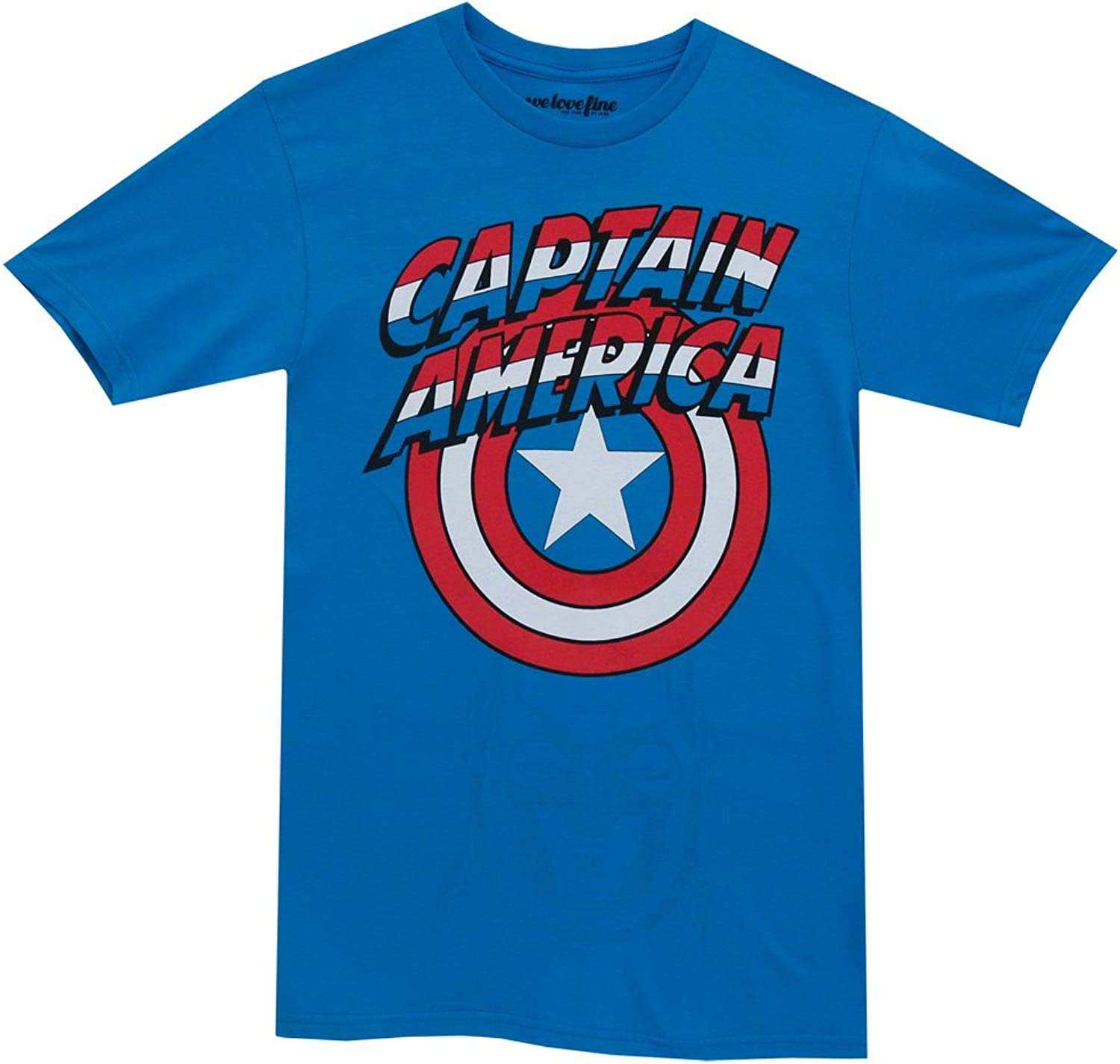 Marvel Captain America Shield Logo Mens bluee Flip TShirt