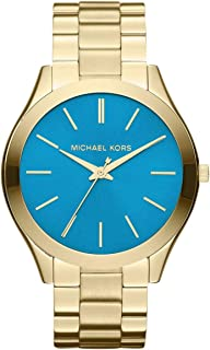 Michael Kors Slim Runway Watch for Women - Analog Stainless Steel Band - MK3265