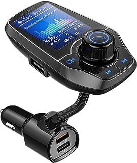 Guanda bluetooth FM-zender voor de auto, een bluetooth auto-adapter, 4-in-1 auto MP3-speler met 1.8 inch breed kleuren sch...