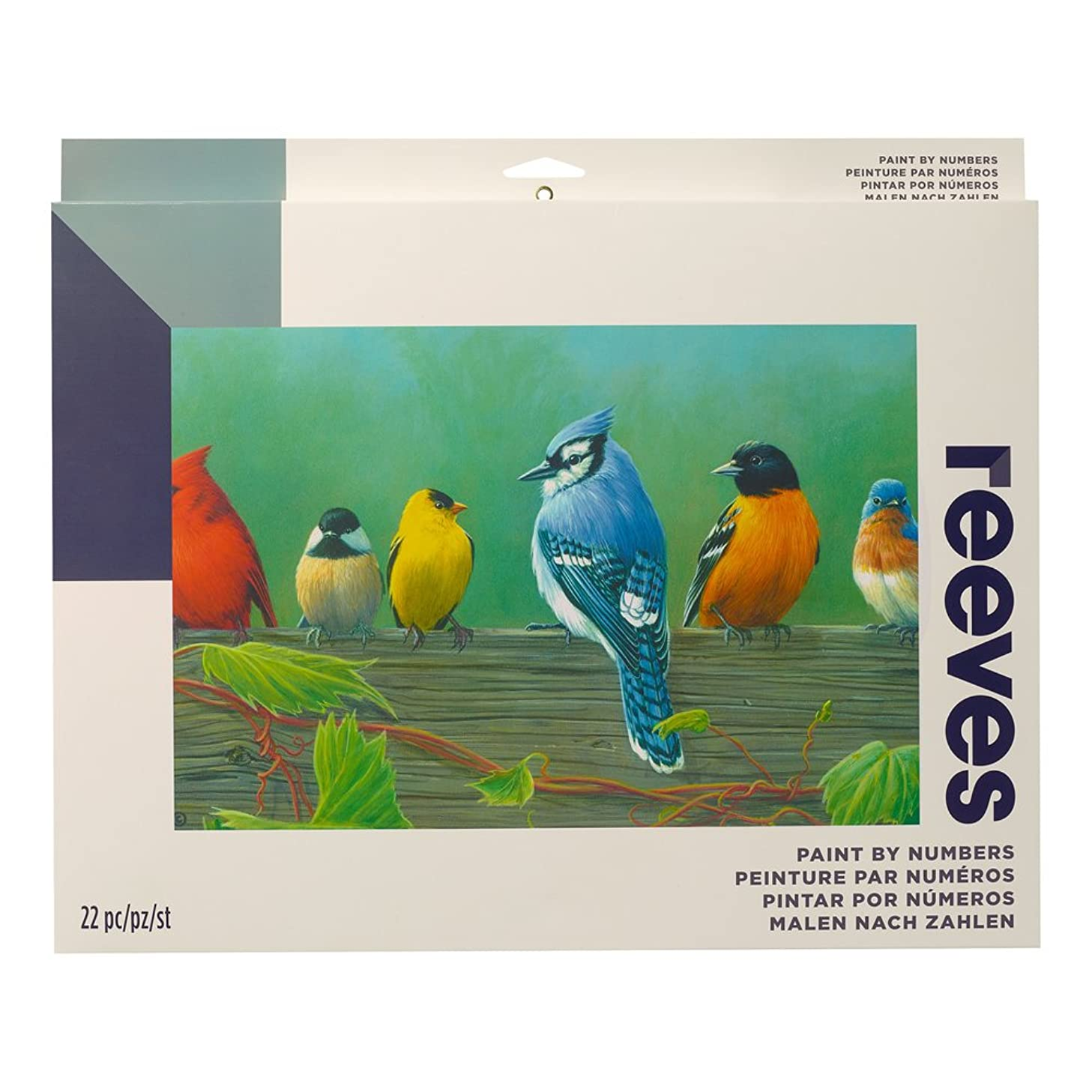 """Reeves Paint by Numbers 12"""" x 16"""" , Rail Birds"""