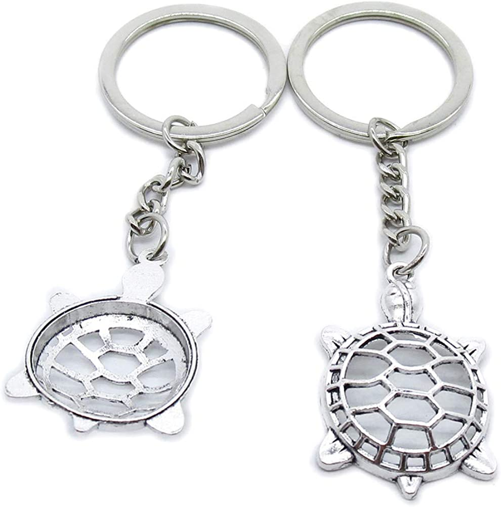 Antique Silver Plated Keyrings Keychains Turtle In Cheap mail order shopping stock WC3U5 Tortoise K