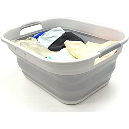 Caqui 46 x 30,3 x 20,4 cm Plegable e Impermeable Caja de Lavander/ía Cesta Plegable para la Colada ShinePine Cesto de lavander/ía 15L