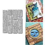 7 Pcs Wood Grain Background Metal Die Cuts,Background Wall Card Cutting Dies Cut Stencils for DIY Scrapbooking Album Decorative Embossing Paper Dies for Card Making