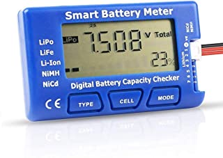 freneci Misuratore di Batteria Misuratore di Celle Digitale di Batteria Bilanciatore Della Batteria per Batteria LiPo Li-lon NiMH