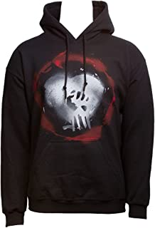 Rise Against Men's Caution Hooded Sweatshirt Black