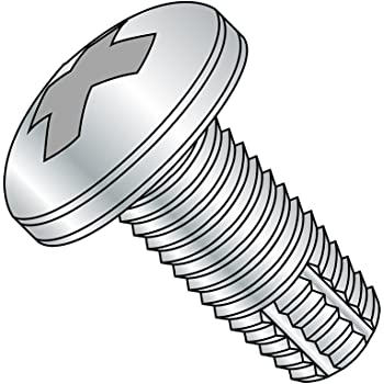 Pack of 10 Type F Pan Head Steel Thread Cutting Screw Star Drive Zinc Plated Finish 1//4-20 Thread Size 3 Length