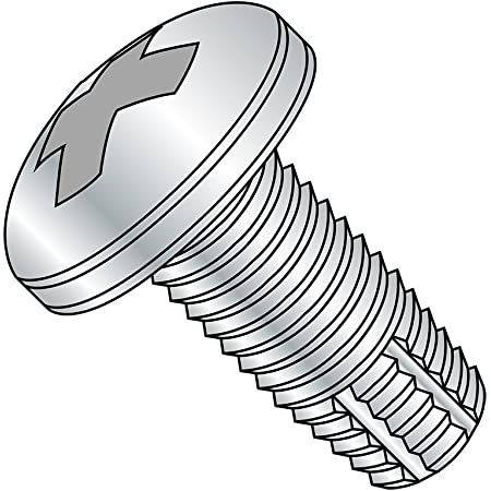 Phillips Drive Pan Head #4-40 Thread Size Plain Finish Type F 1//4 Length Pack of 100 18-8 Stainless Steel Thread Cutting Screw