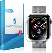 ILLUMI AquaShield Screen Protector Compatible with Apple Watch Series 4 (44mm)(6-Pack)(Full Edge Coverage) No-Bubble High Definition Clear Flexible TPU Film