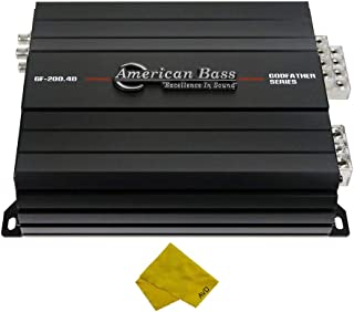 $350 » Sponsored Ad - American Bass 4 Channel Car Amplifier – Class A/B Multichannel Amplifier 720 Watt RMS, Car Electronics Car ...