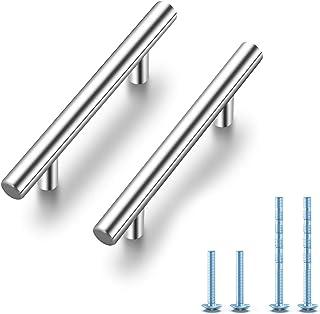 "Ravinte 30 Pack 5'' Cabinet Pulls Brushed Nickel Stainless Steel Kitchen Drawer Pulls Cabinet Handles 3"" Hole Center"
