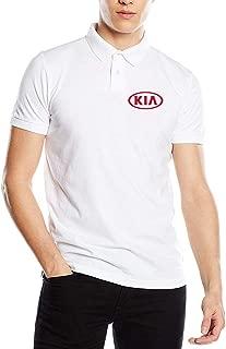 SHENGN Design Novelty Mens Top KIA_Car Logo Polo Shirt