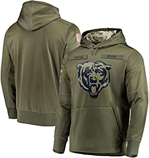 Dunbrooke Apparel Chicago Bears Salute to Service Hoodie Camo for Men Women Youth