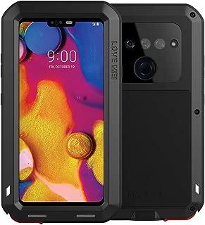 LG V40 ThinQ Case, LG 40 Case Heavy Duty, Armor Aluminum Alloy Metal Case Cover Bumper Hybrid Soft Rubber Military Shockproof Outdoor Hard Defender Men Gift for LG V40/V40 ThinQ Feitenn - Black
