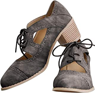 cut out lace up low heel oxford