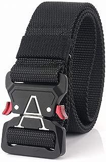 Mens' Outdoor Sport Tactical Belt Military Nylon Training Belt Adjustable Waistband