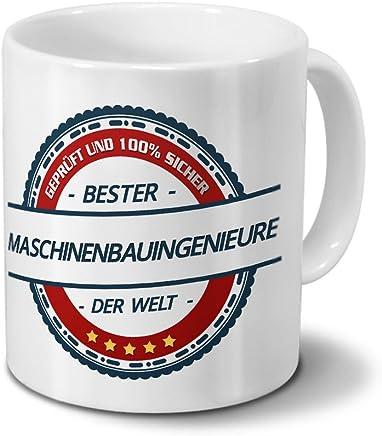Preisvergleich für Tasse mit Beruf Maschinenbauingenieure - Motiv Berufe - Kaffeebecher, Mug, Becher, Kaffeetasse - Farbe Weiß