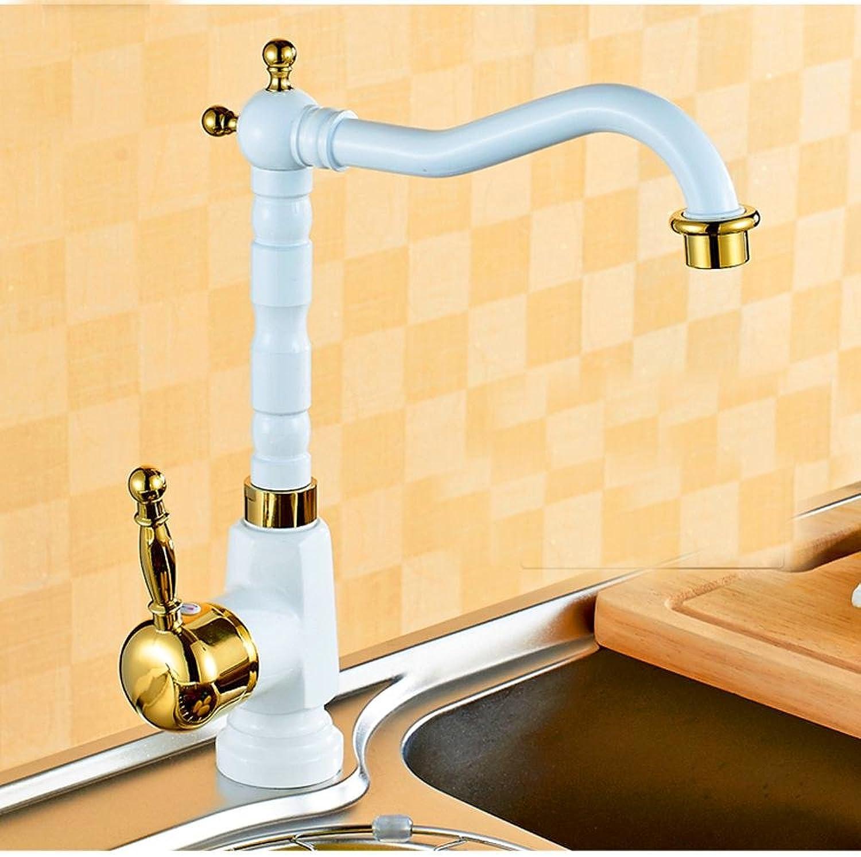 YFF@ILU Home deco-Stil in Europa Kupfer rsten Weiß Gold rotierende Waschtischmischer