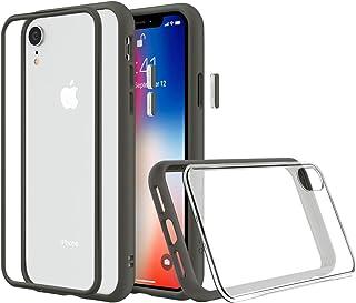 RhinoShield(ライノシールド) iPhone XR用 [Mod NX] モジュラーケース カスタマイズ可 衝撃吸収 高耐久 保護カバー ワイヤレス充電&カメラレンズ対応 - グラファイト耐衝撃バンパー&クリア背面