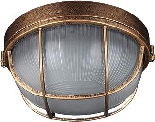 Mltdh Retro Industrial Wall Light, Aluminum Bulkhead Round Outdoor Waterproof Industrial Vintage Light [Energy Class A++]