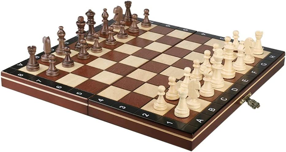 MKVRS Chess Set Checkers Al 4 years warranty sold out. Pieces Wooden Foldin