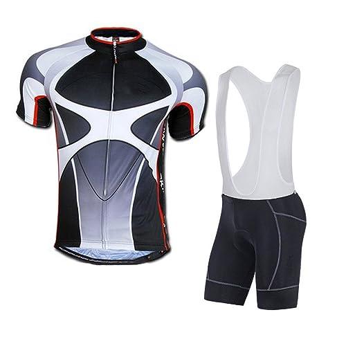 sponeed Men's Shorts Bib and Jersey Cycling Kits Set Road Bike Outdoor Riding Sportswear