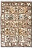 Nain Trading Indo Ghom 247x173 Orientteppich Teppich Beige/Dunkelbraun Handgeknüpft Indien