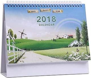 [E] November 2017 to December 2018 Desk Calendar Desktop Calendar Schedule
