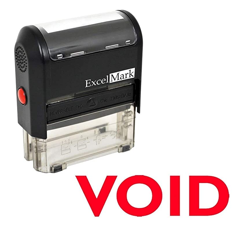 ExcelMark Void Self Inking Rubber Stamp - Red Ink (ExcelMark A1539) (Stamp Only)