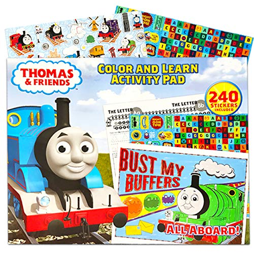 Thomas the Train Coloring Book ~ Giant 13 x 16 Coloring and Learning Activity Pad with Thomas and Friends Stickers for Kids Toddlers (Thomas the Train Toys)