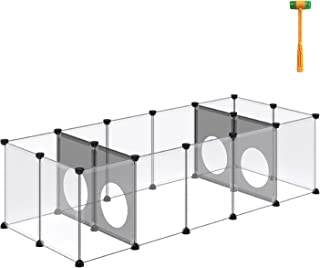 DINMO C&C Cage, Small Animal Playpen, Guinea Pig Fence, Interesting Game Hole Series for Small Pet, Rabbits, Bunnies, Pupp...