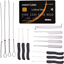 Loboo Idea 15-delige slotenmaker Lock Pick Tools Inclusief 5 Stuk Credit Card Style Lock Pick Set en 10 stuks Gebroken Key...