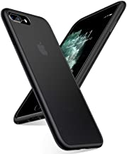 TORRAS Shockproof Compatible for iPhone 8 Plus Case/Phone 7 Plus Case, [Military Grade Drop Protection] [Upgraded Materials] Ultimate Delicate Touch and Translucent Matte Protective Case, Black