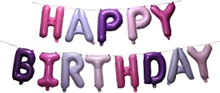 SGODA Happy Birthday Mylar Balloons Letters Balloon Purple