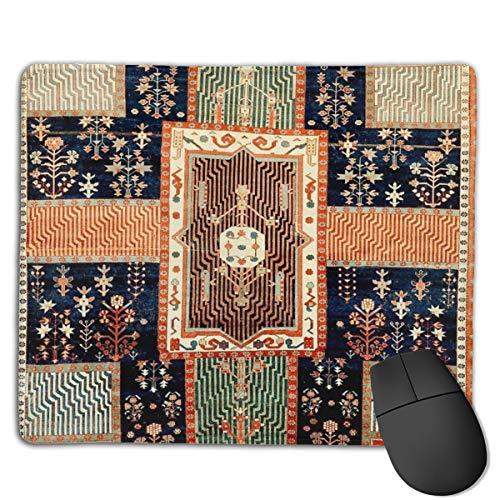 Kurdish Persischer Gartenteppich, Gaming-Mauspad, rutschfeste Gummi-Unterseite, für Computer, PC-Tastatur und Schreibtisch, 24,9 x 30 cm