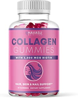 Havasu Nutrition Collagen Gummies Formulated with Collagen & Biotin to Support Hair, Skin, and Nail Growth ...