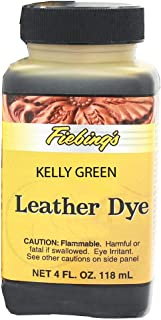 Fiebings - Leather Dye, Alcohol Based,4 Fl.Oz. 118 Ml- 27 Colors Kelly Green