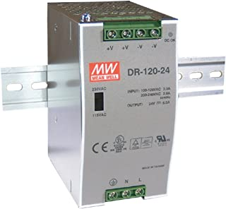 MEAN WELL original DR-120-12 12V 10A meanwell DR-120 12V 120W Single Output Industrial DIN Rail Power Supply