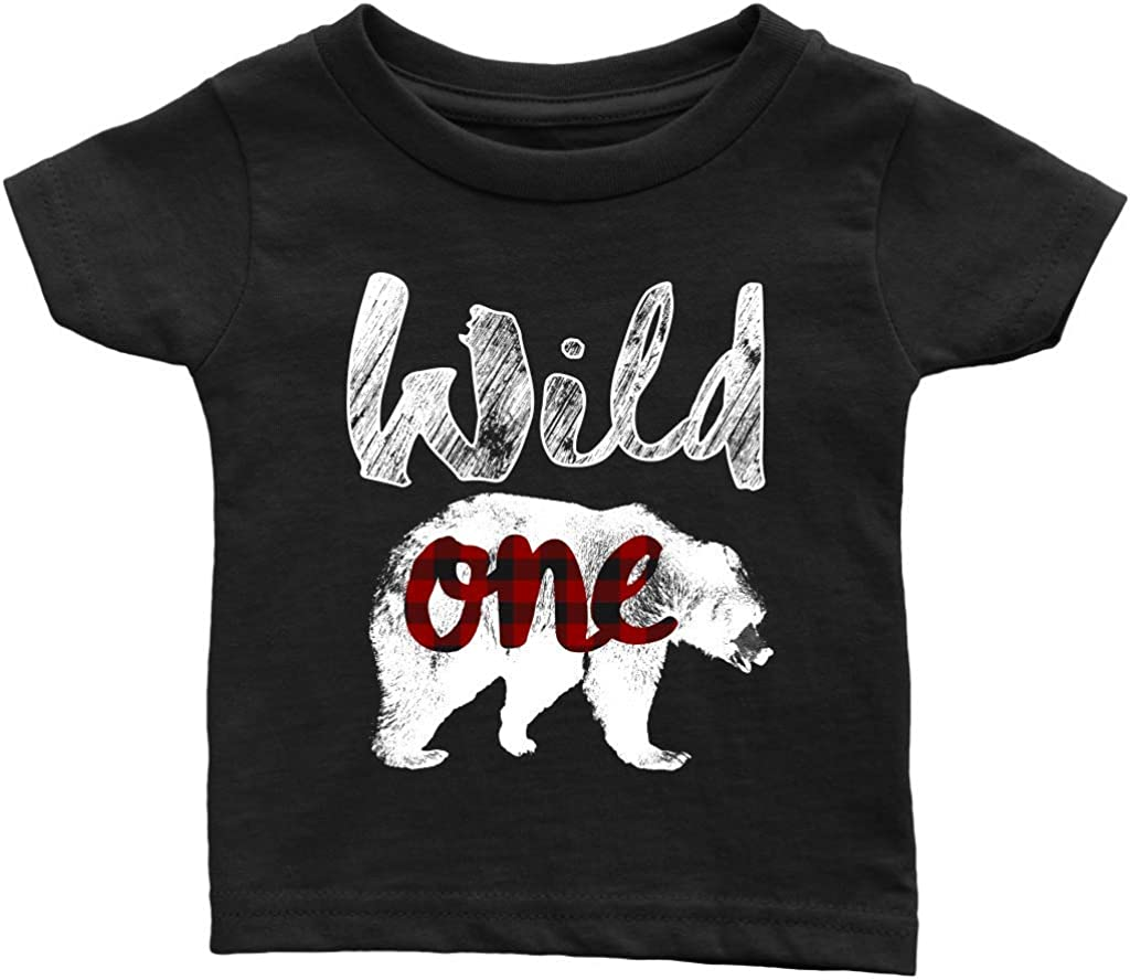 1st Birthday Bear Shirt Bear Birthday Shirt Boy Bear Birthday Outfit Gingham bear Birthday Shirt Boy first Birthday shirt