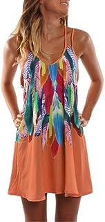 6b28e720939 Sumen Women s Summer Dress Boho Chiffon Sleeveless Cocktail Party Beach  Dress