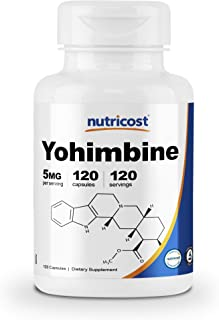 Nutricost Yohimbine HCl 5mg, 120 Capsules Extra Strength