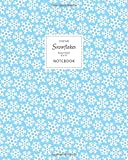 Christmas Snowflakes Notebook - Ruled Pages - 8x10 (Ice Blue)