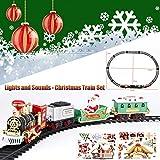 Lukame Tren de Navidad Tren de juguete Juego de trenes Regalo de Navidad Juguete musical...