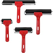 Hemobllo 4Pcs Rubber Roller Brayer Ink Roller Hard Brayers Tape Roller Stamping Tools for Printmaking Wallpapers Stamping ...