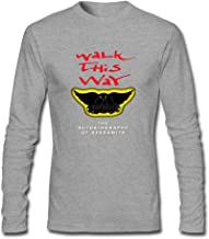 XIULUAN Men's Walk This Way Band The Autobiography of Aerosmith Long Sleeve T-shirt