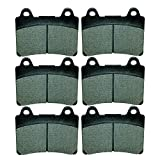 Caltric Front Rear Brake Pads Compatible With Yamaha Xvz1300 Xvz-1300 Royal Star 1300 1997-1998