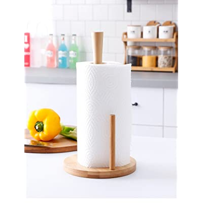 ANYO Bamboo Tissue Holder For Kitchen and Bathr...