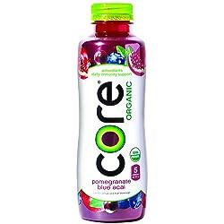 CORE Organic Pomegranate Blue Acai Fruit Infused Beverage, 18 Fluid Ounce Bottle