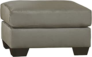 Ashley Furniture Signature Design - Darcy Ottoman - Ultra Soft Upholstery - Contemporary - Cobblestone