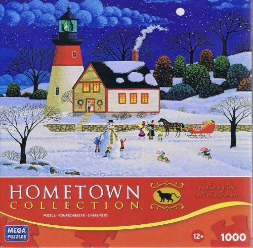 HOMETOWN COLLECTION At the Light Before Christmas 1000 Piece Puzzle by HOMETOWN COLLECTION